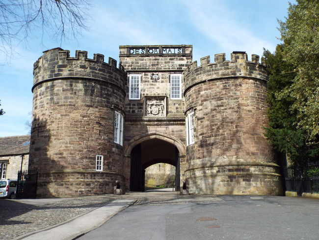 The entrance to Skipton Castle, Skipton Entrance Castle Castle Walls Skipton Castle Castle Entrance Gatehouse Skipton Castle Gatehouse