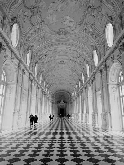 Corridor The Way Forward Architectural Column Architecture Indoors  Blackandwhite