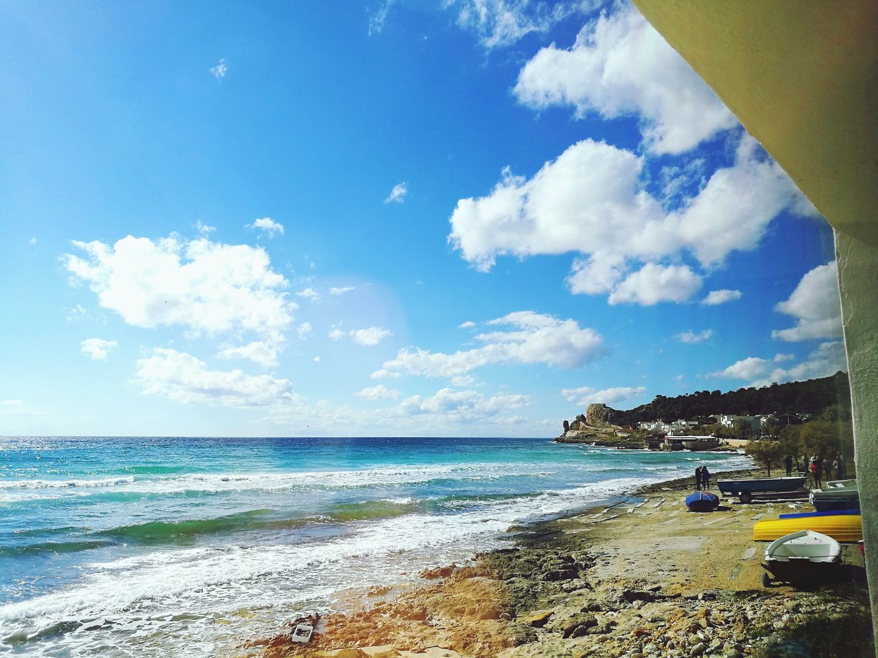 sea, sky, water, beach, beauty in nature, nature, cloud - sky, horizon over water, day, scenics, outdoors, wave, vacations, blue, no people