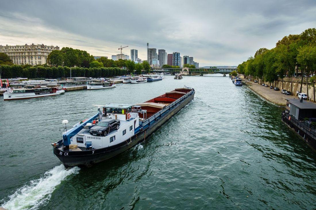 BargeOnTheRiver Paris❤ Cityscape Bridge Love Paris Tourism Seine River And Eiffel