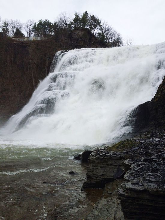 Nature Scenics Outdoors Motion Water Waterfall Ithaca Ithaca Falls