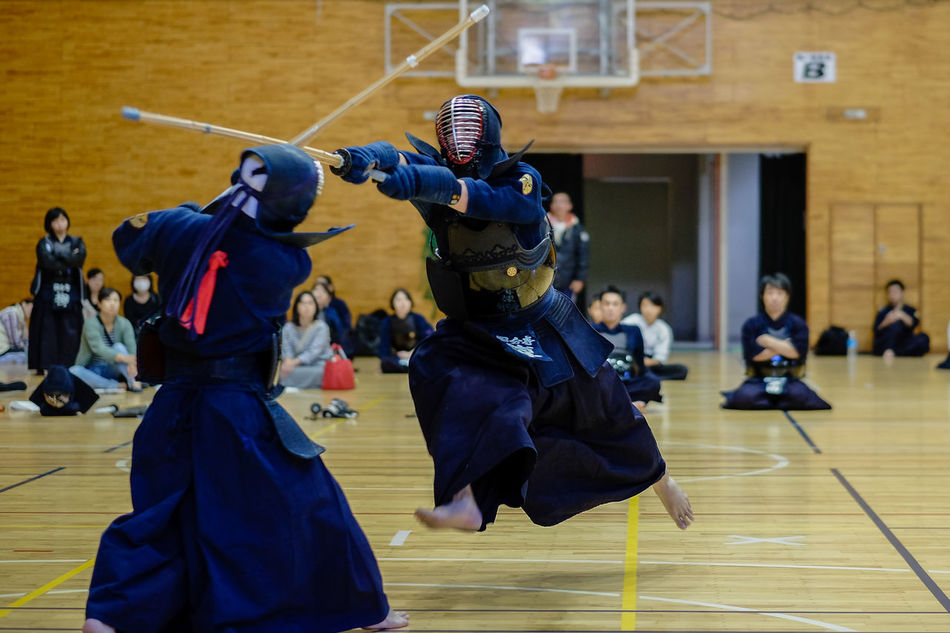 Balance Blurred Motion Budo Front View Japanese Culture Kendo Lifestyles Real People Selective Focus Sport Sports Sports Photography Swordman Ship The Portraitist - 2016 EyeEm Awards