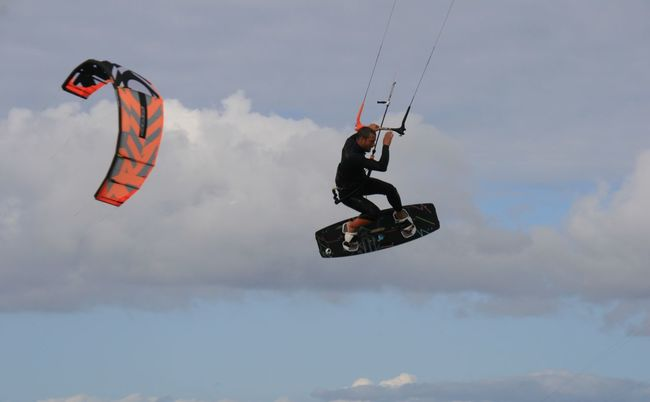 Kitesurfer Kitesurfing Sport Time Sports Sports Photography Surf Windserf Windserfing