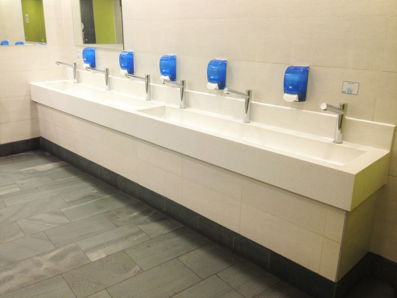 Mirror Sink Sinks Soap Soap Dispenser Tap Taps Tiles Washroom