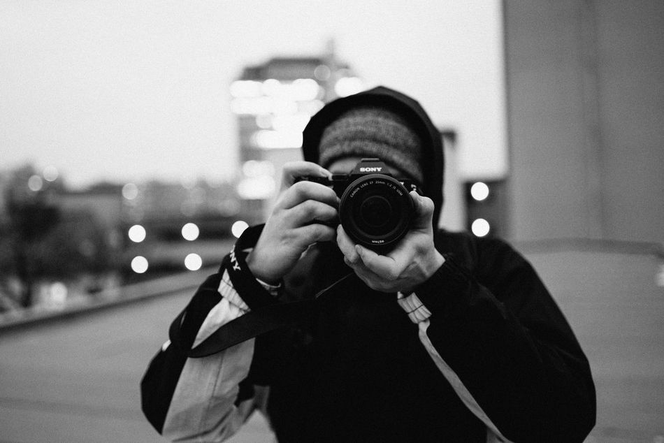 Shooter portrait Camera - Photographic Equipment Focus On Foreground Photography Themes One Person Holding One Man Only Photographer Men Only Men The Media Outdoors City Suit People Adult Close-up Adults Only Sky Young Adult Day Urban City EyeEmBestPics EyeEm Best Shots Shootermag