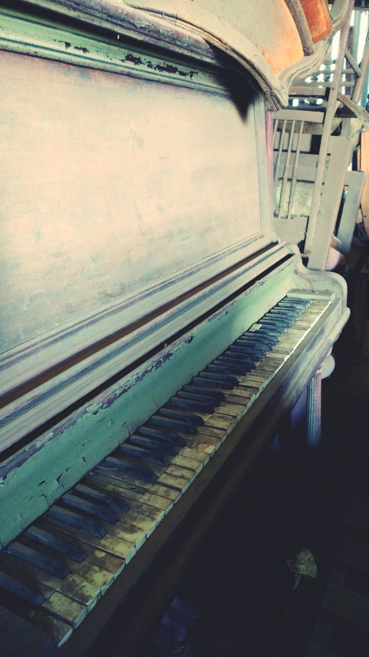No People Indoors  Storage Piano Dusty