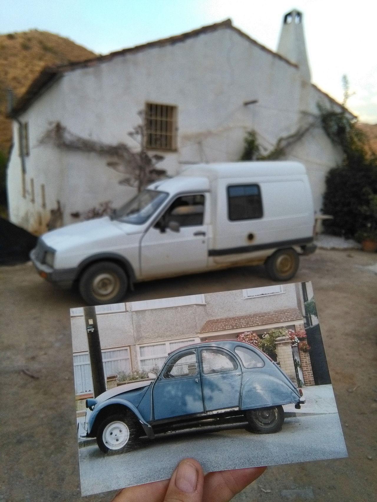 ''Cars'' old & erm ....well old! My first & the present vehicle Saturdaysong_eyeemchallenge Citroen 2cv Citroen C15 Cars Bexley Arroyo Jevar
