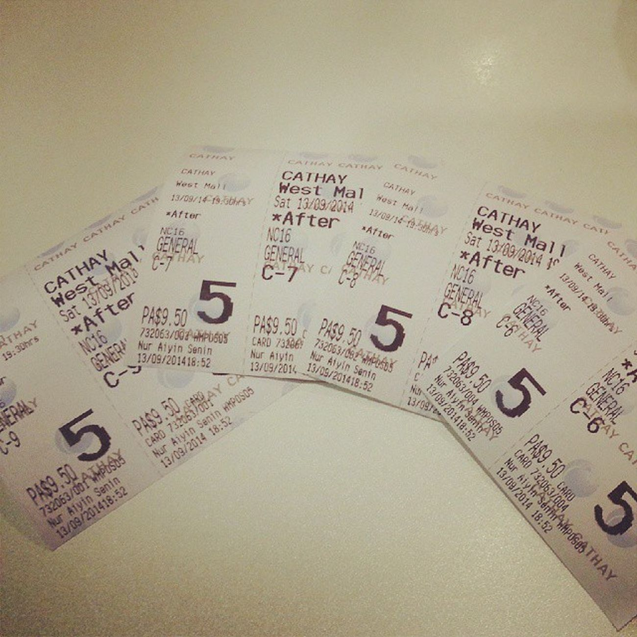 Watching movie with fam ♥. Treating them cos smth went wrong lol! Afterimages Yay Finally Solong familymovietgt