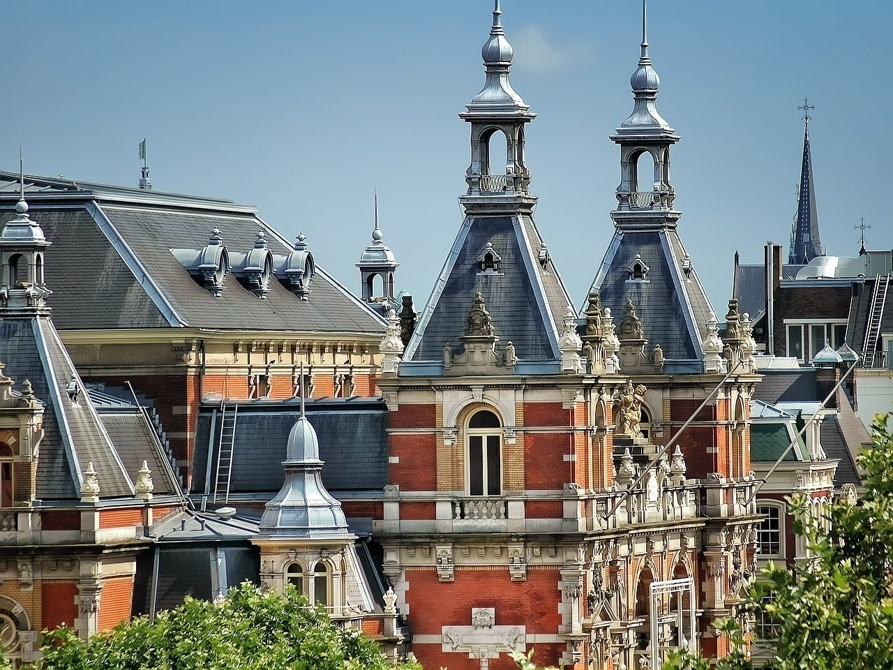 Beautiful stock photos of amsterdam, Architecture, Blue, Building Exterior, Built Structure