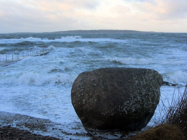 Sankta Toras sten- Saint Tora's stone in Torekov How's The Weather Today? Stormy Weather Waves Sea Stone Beach Nature_collection Sky Collection
