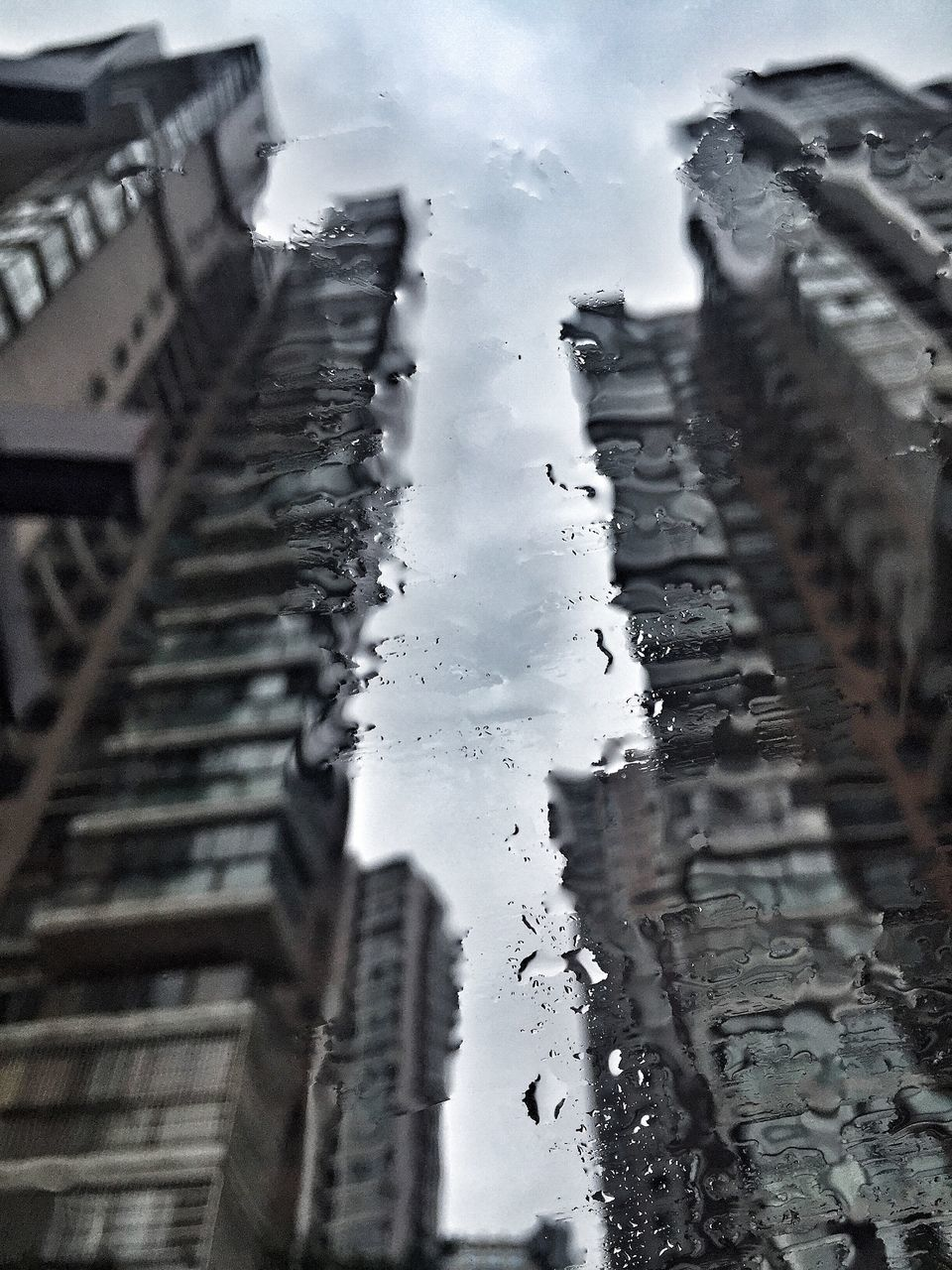 weather, architecture, building exterior, built structure, winter, no people, cold temperature, water, window, wet, day, drop, outdoors, snow, raindrop, close-up, sky, nature, dripping