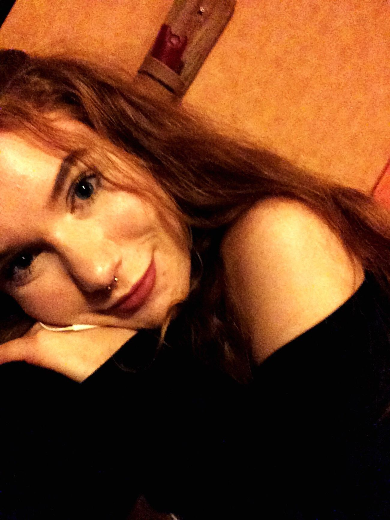 Trying to think of something else :D But Love Is On My Mind  Naive Girl Yep Thats Me Cute Redhair Smiling Sweetheart Beautiful Beauty Beautiful Woman