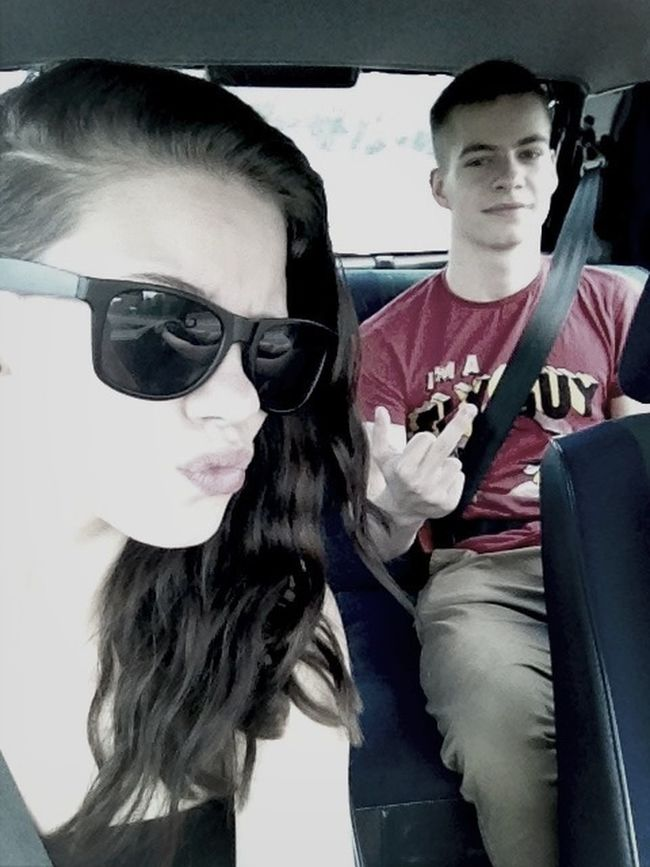 My Brother And Me ♡  Middle Finger Up Crazy Hell Yeah