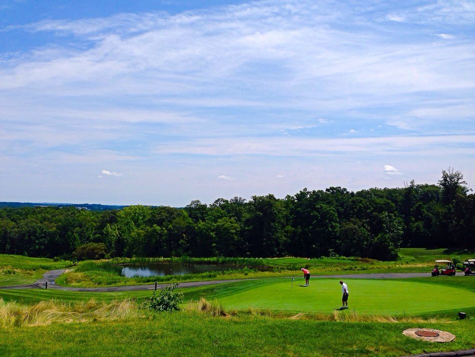 Beautiful stock photos of golf, Cloud, Day, Elevated View, Golf
