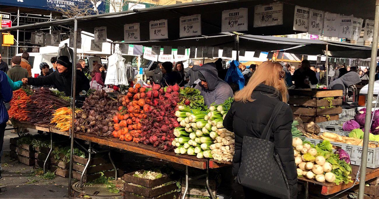 Farmers Market Vegetables Outdoors Colors City