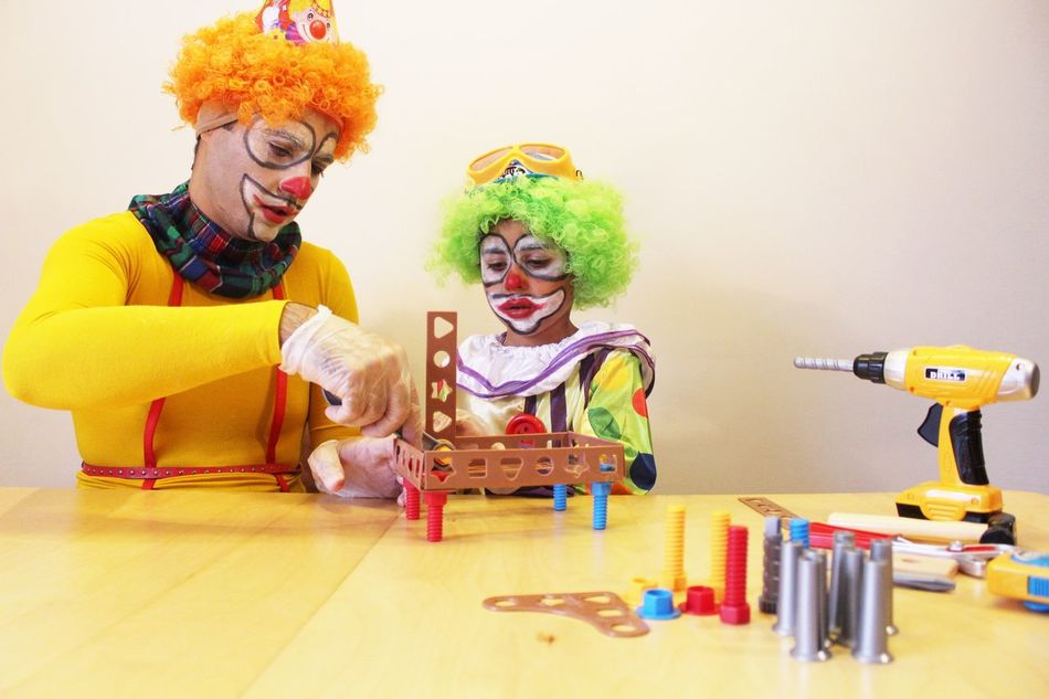 Beautiful stock photos of clown, 35-39 Years, 4-5 Years, Arrangement, Arranging