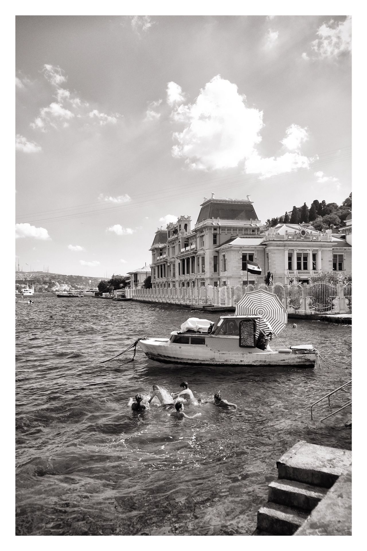 syrian refugee kids swimming in istanbul Istanbul Bebek Syrian People Swimming