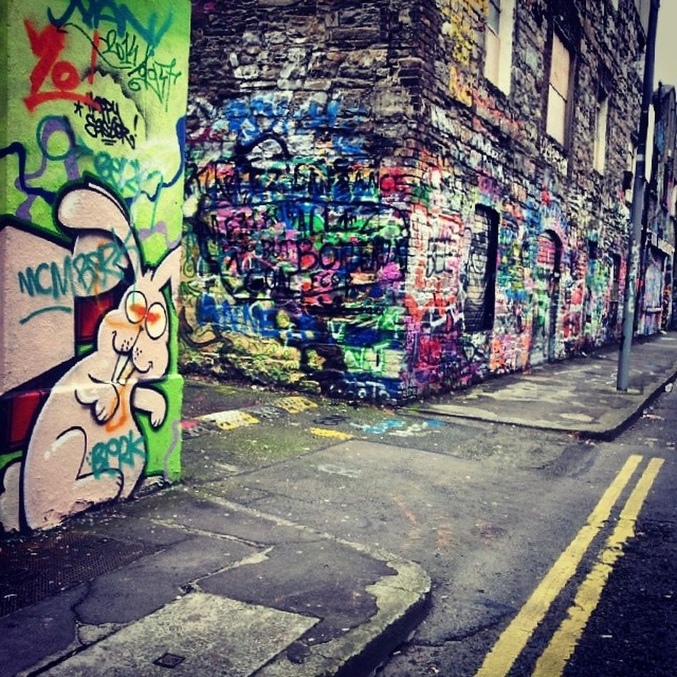 crazy rabbit at Windmilllane U2graffitiwall
