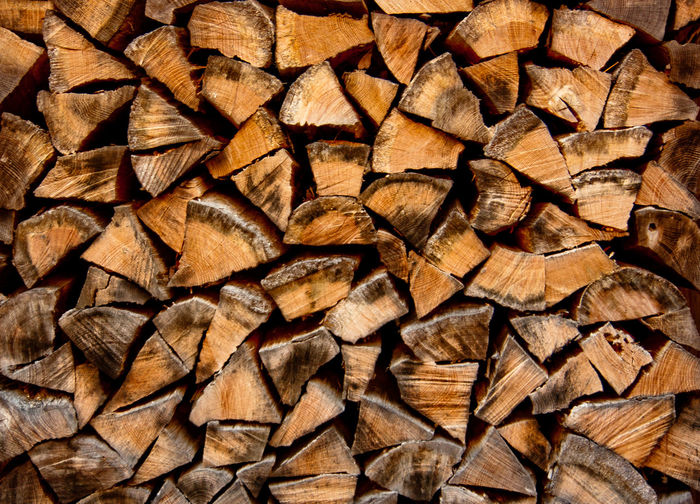 Backgrounds Close-up Firewood Log Nature No People Pattern Timber Wood - Material Woodpile