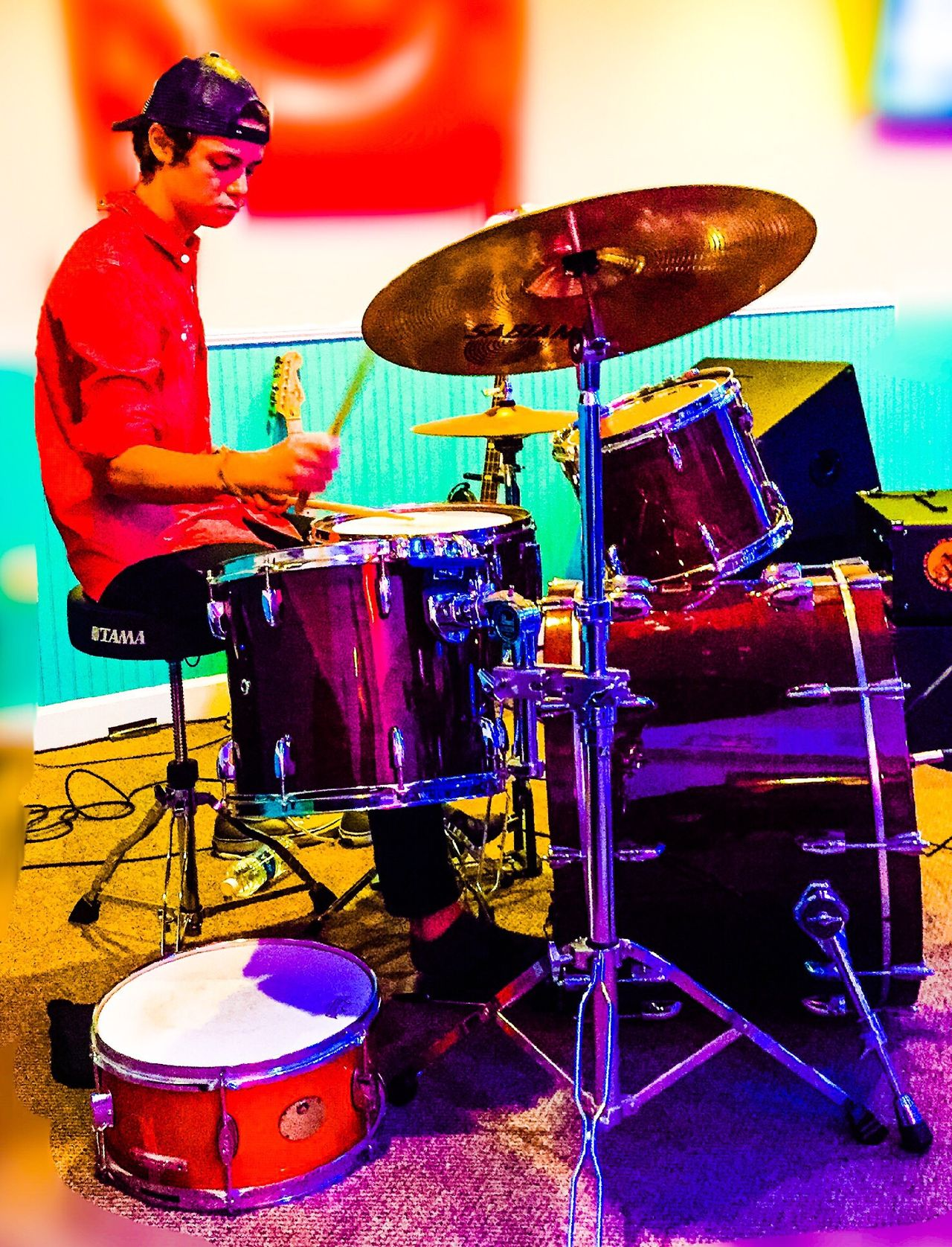 A boy and his drums. Drummer Drums Band Rocknroll Jamming Sticks Rocking Out