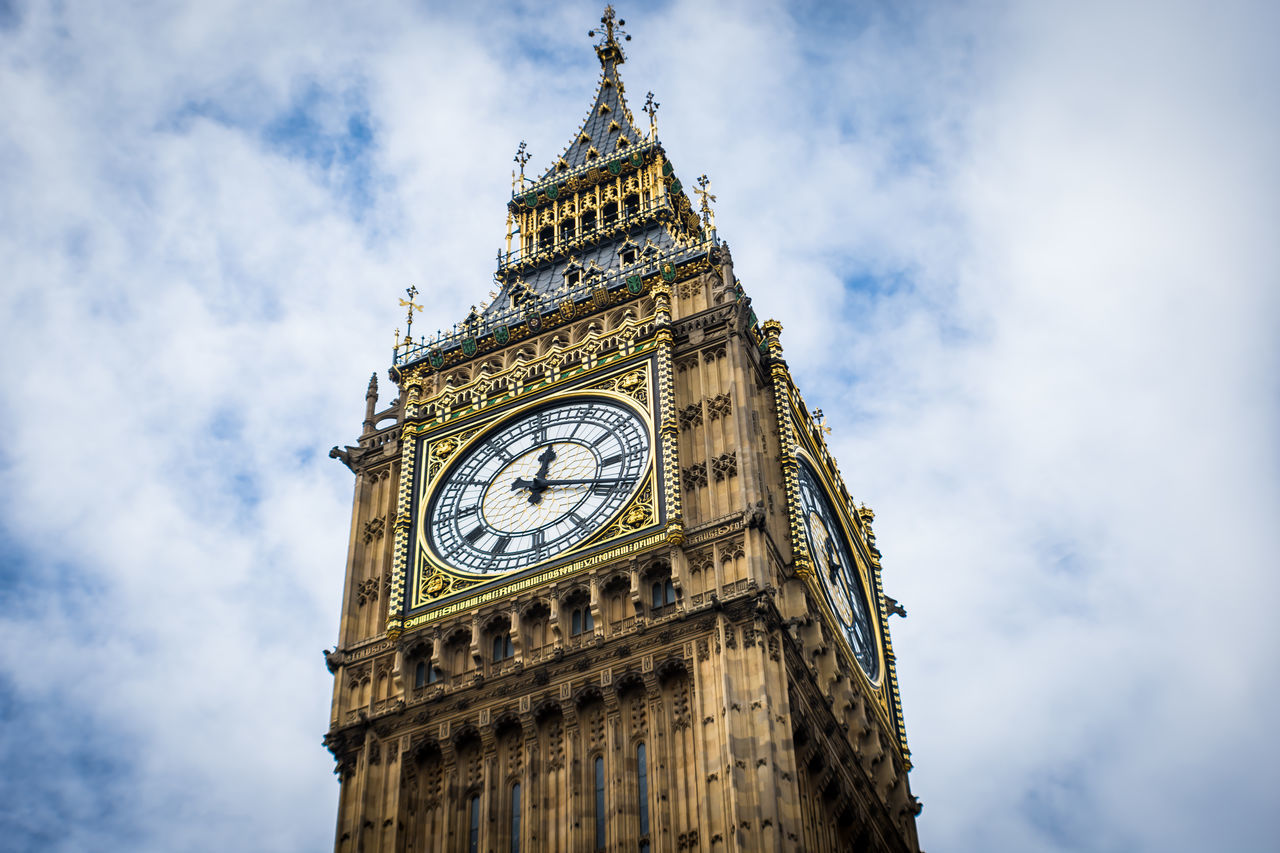 Big Ben Architecture Architecture Big Ben Built Structure Capital Cities  Clock Clock Tower Cloud Cloud - Sky Cloudy Culture Day Low Angle View No People Outdoors Sky Tall - High Time Tourism Tower Travel Travel Destinations Travel Photography Vacation Vacations