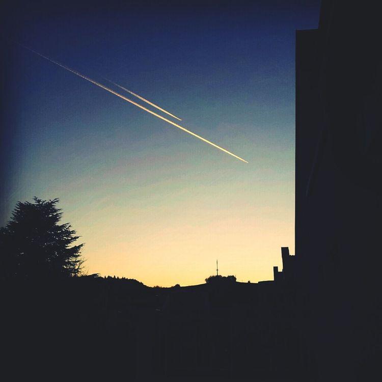 Sundown Contrails