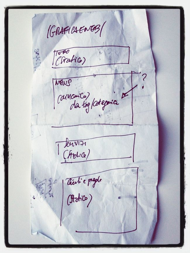 Old plans on paper