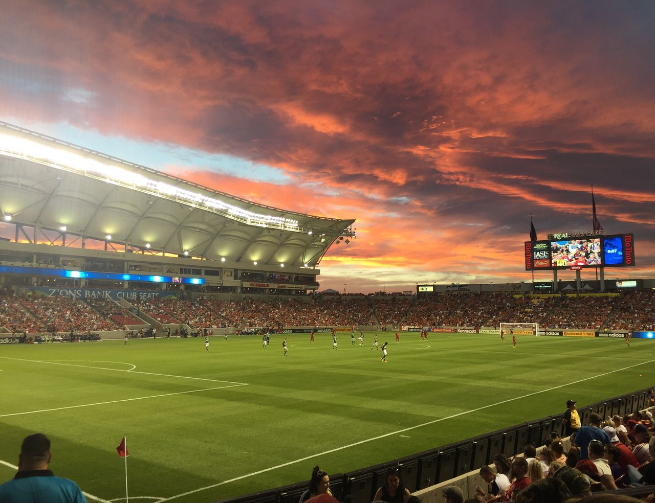 Sunset at Soccer stadium Soccer Field Stadium Sport Sky Cloud Sunset First Eyeem Photo