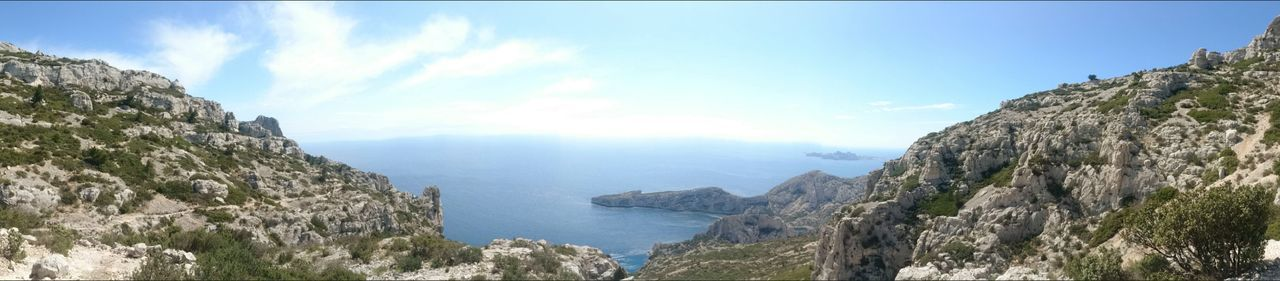 Calanques De Marseille Panoramic View Sormiou Morgiou Landscape