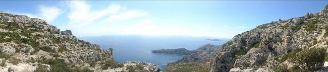 Calanques De Marseille Panoramic View Sormiou Morgiou