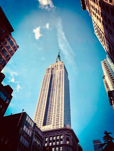 Empire State Building Empire State Building New York City Skyscraper Tall - High