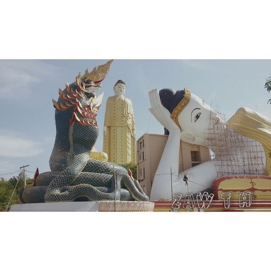 "Morning igers ""One of the world biggest religious statue""- CNN မံုရြာ Igers Morning World Biggest Statue Religious  CNN Dragon Buddha Monywa Sagaing Mandalay Myanmarphotos Myanmar Burma Igersmyanmar Igersmandalay Igermyanmar Burmeseigers Vscomyanmar"
