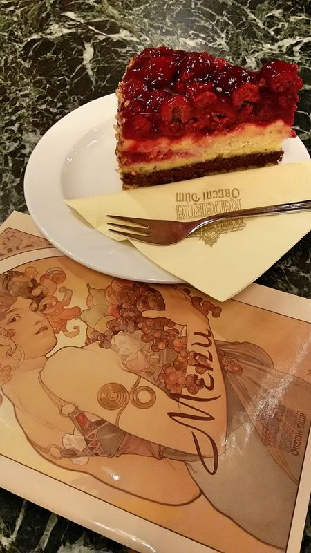 No People Indoors  Raspberry Cake Raspberry Menu Restaurant Praga Prague