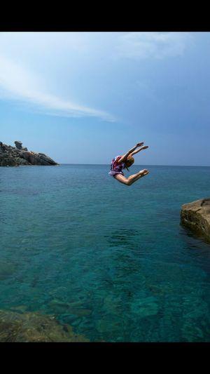 Territoriodansa Puntafalcone Sardinia Sardegna Italy  #Santateresagallura Dance Dancing Blue Sea And Sky Sea Ballerina