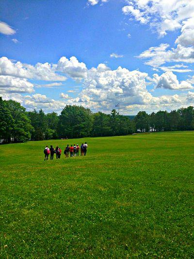 Skyporn Clouds And Sky Blue Sky Park Plaines Quebec City Grass Beautiful WOW