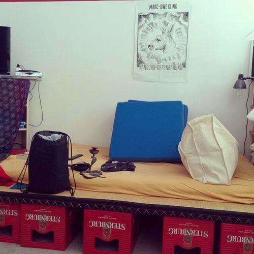 Mein Bett für die nächsten Tage, während derer ich auf der República  in Berlin sein werde :) Improbett Rp14