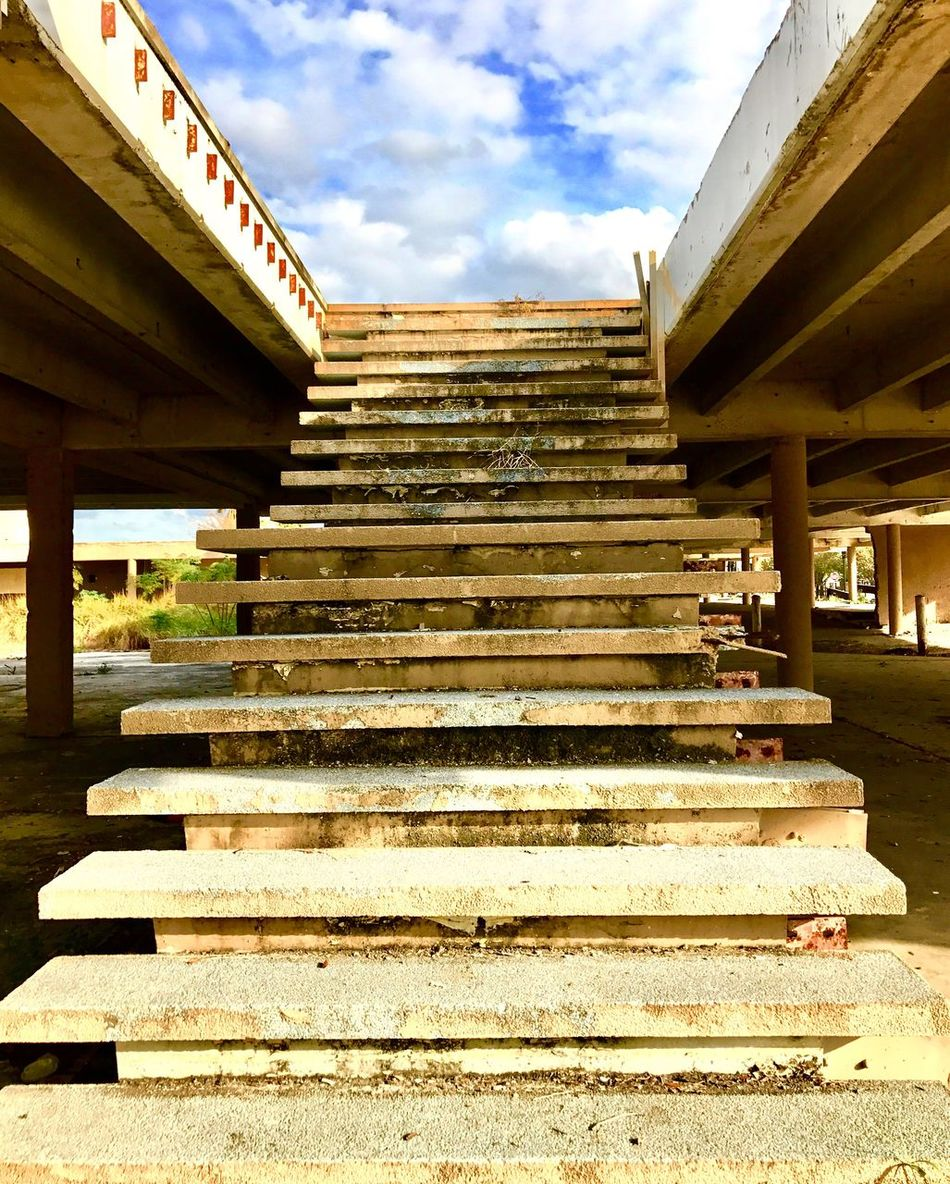 EyeEmNewHere abandoned hotel in Jacksonville Florida. Stairway to heaven. Built Structure Building Exterior Sky Outdoors No People Architecture Steps Staircase Day Steps And Staircases Cloud - Sky Upshot Vendor Buyer