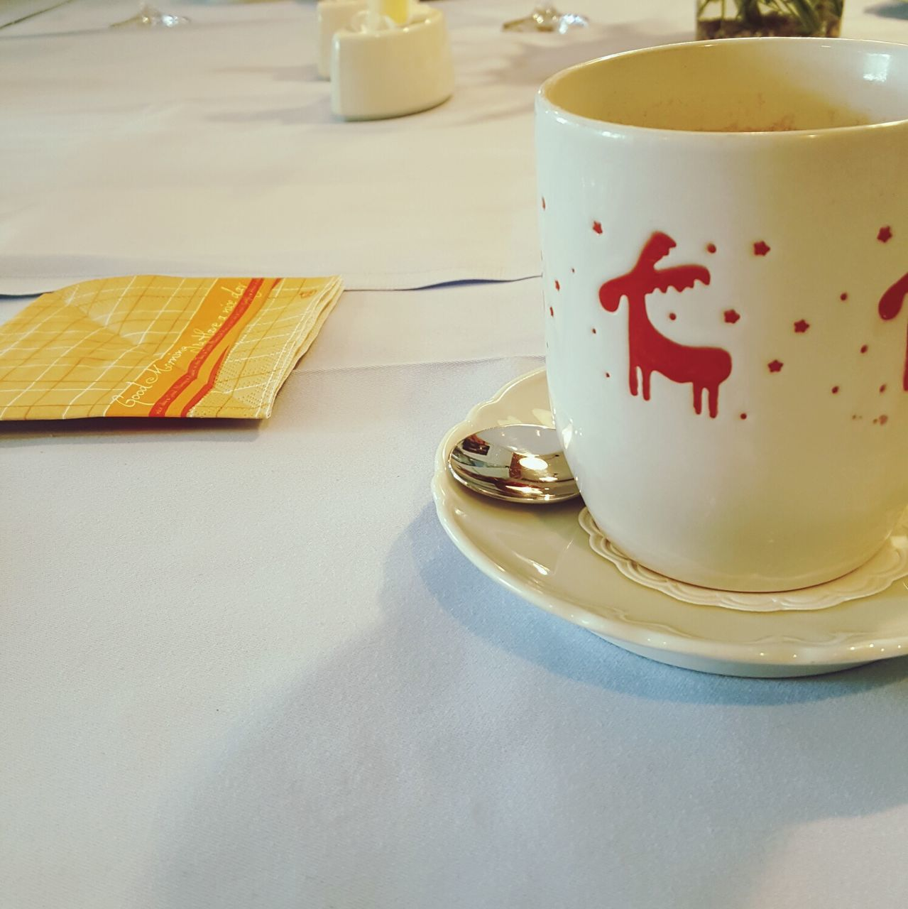coffee cup, drink, food and drink, coffee - drink, refreshment, saucer, table, cup, indoors, text, plate, freshness, no people, close-up, tea - hot drink, food, day, froth art