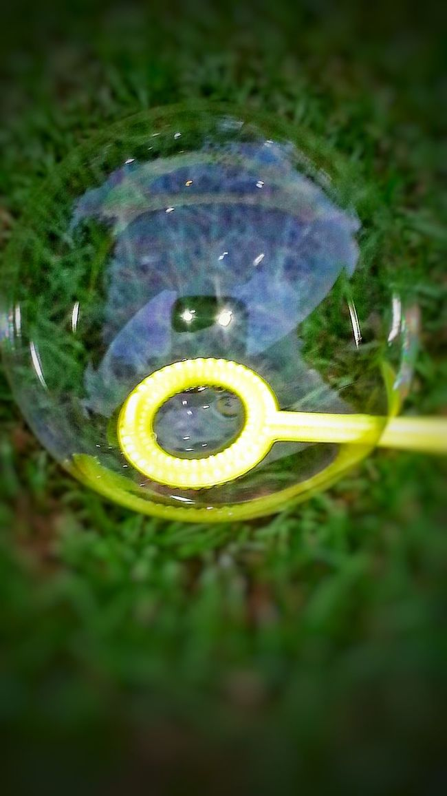 Bubble Bubble Reflection Rainbow Colors See Through Outdoor Photography Playing Outside Yellow Bubble Wand Reflection Photography Circles Around Shapes Reflections Playing With Bubbles Toys Outdoor Activities Blowing Bubbles Reflection