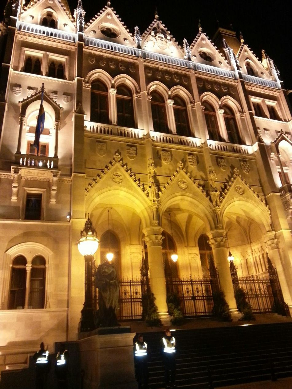 Seeing The Sights Budapest, Hungary Parlament Autumn Night Night Lights Building Historical Building