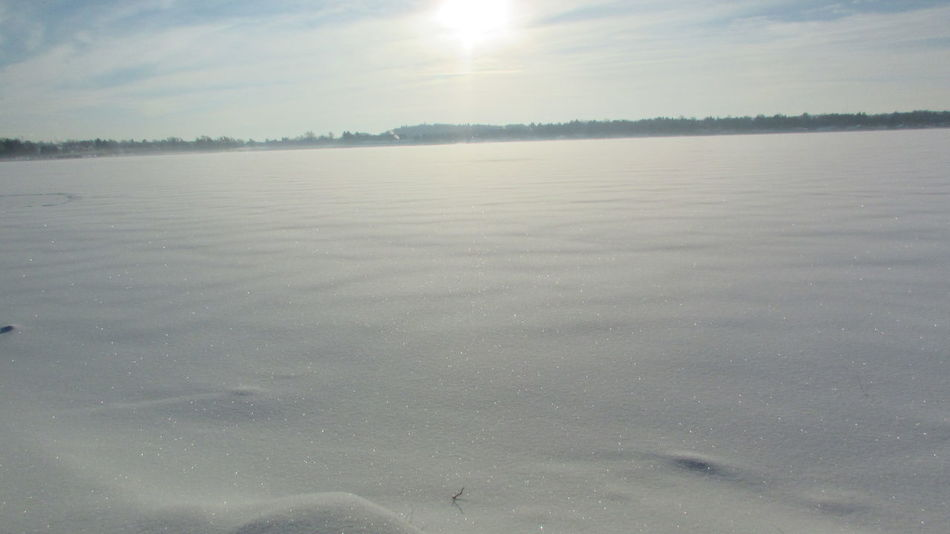 Taking Photos Hanging Out My Lake Is Frozen😞 Sunshine Very Cold Morning Windy DayLake Cadillac Pure Michigan