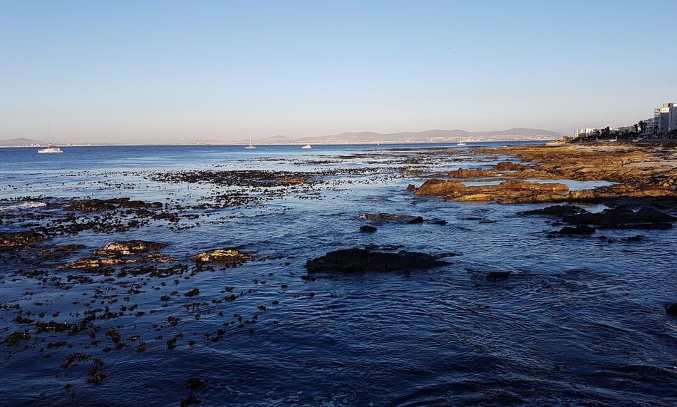 Sunset Sea Sky No People Water Nature Horizon Over Water Outdoors Beach Close-up Beauty In Nature Day Western Cape South Africa 🇿🇦 Cape Town, South Africa Cape Town Sunset Over Africa God's Glory On Display  From Where I'm Standing Table Bay