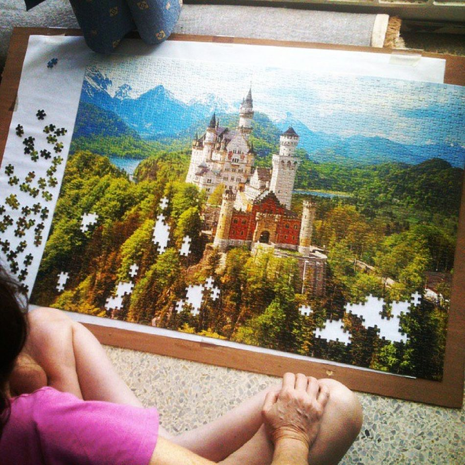 Ya casi Puzzle  Jigsaw  Rompecabezas Castillo casttle Neuschwanstein sabado saturday