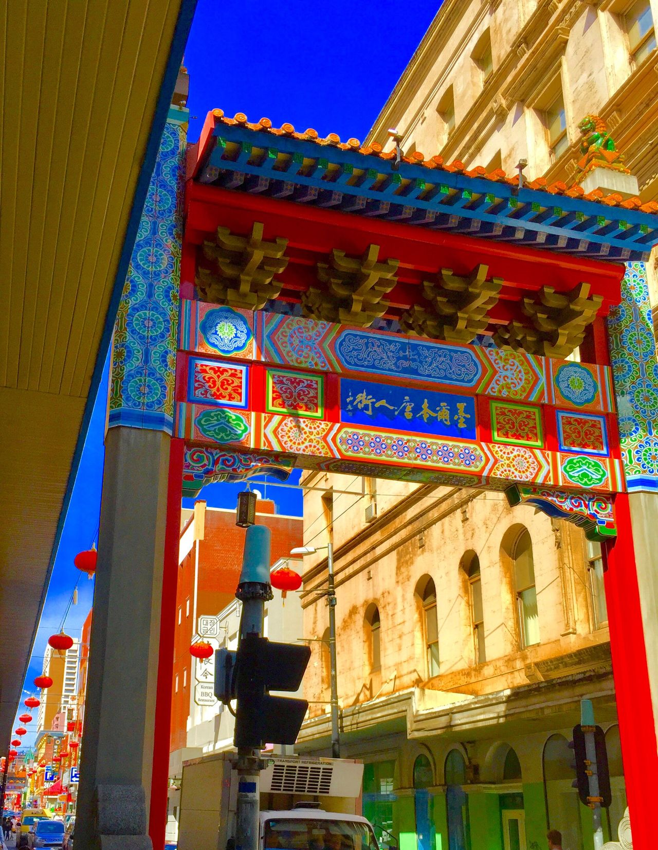 Architecture Religion Travel Building Exterior Built Structure Place Of Worship Travel Destinations Entrance Low Angle View Sky City Non-western Script Text Spirituality No People Outdoors Day Check This Out EyeEmNewHere EyeEm Best Shots Architecture Chinatown