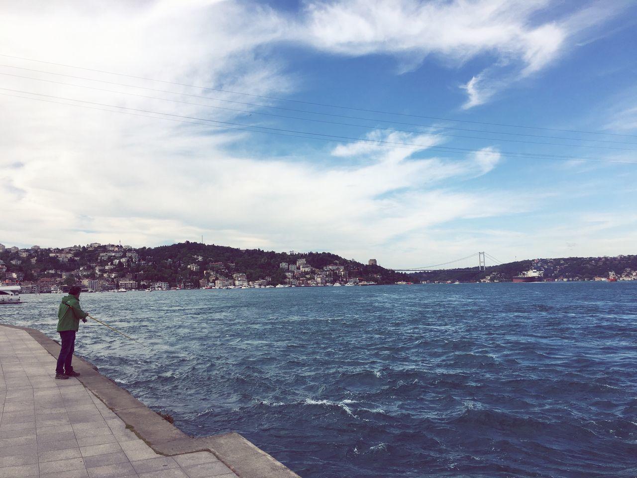 Fishing Istanbul Turkey Bebek Sea Sea And Sky First Eyeem Photo