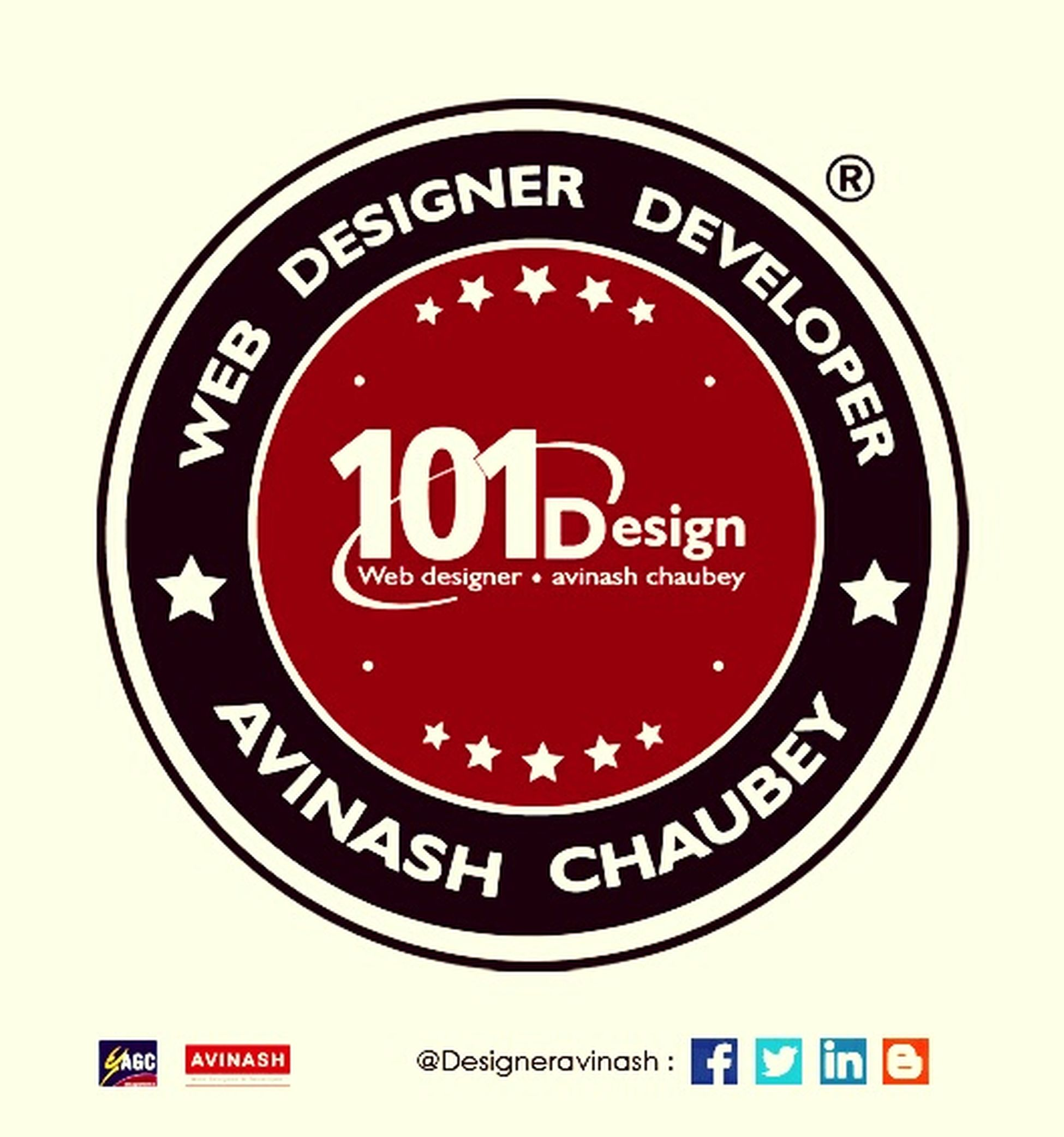 Logo : WeB Designer & Developer Name : Avinash Chaubey Purpose : 101 Design Completed Designeravinash Designer4life Check This Out