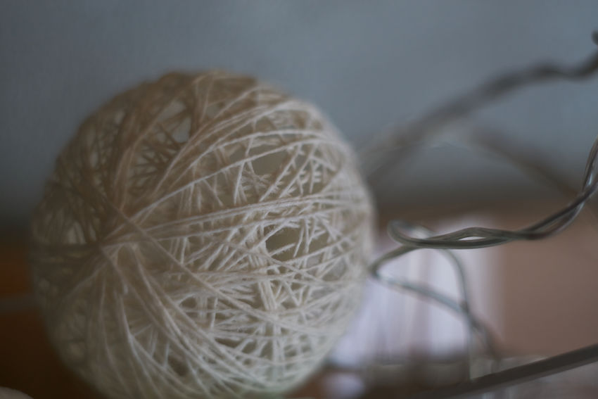 Ball Ball Of Wool Blury Background Close-up Indoors  No People Tangled