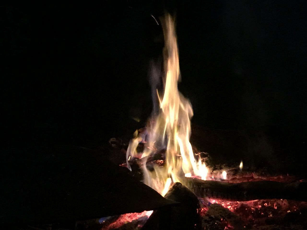 burning, flame, night, heat - temperature, bonfire, motion, no people, outdoors, close-up, nature
