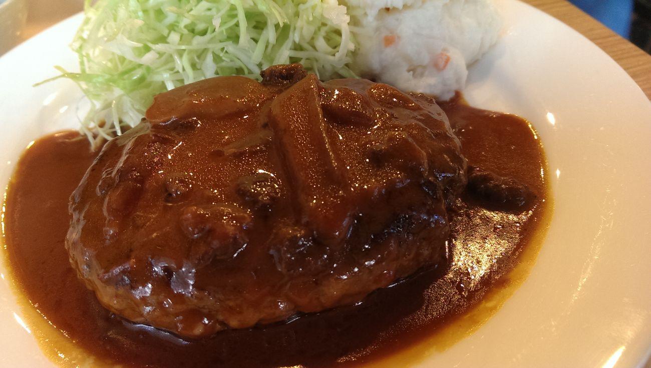 Hamburger Steak for Lunch