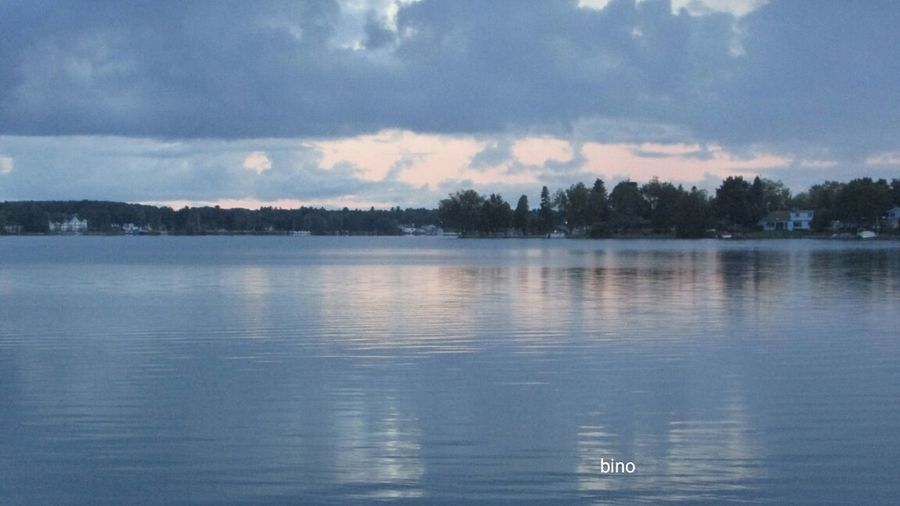 Evening Shoot No People Around The Lake The World Seemed Grey! Tranquility Water Reflections Lake Cadillac Pure Michigan
